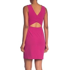 Betsey Johnson Pink Cutout Back Scuba Crepe Dress